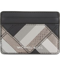 Michael Michael Kors Marquetry Leather Card Holder Black
