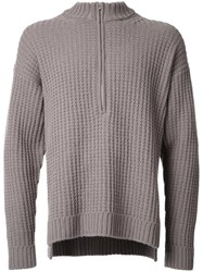 Monkey Time Cable Knit Jumper Brown