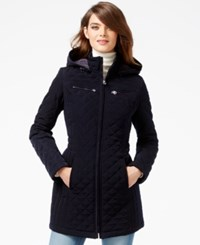Laundry By Design Faux Fur Lined Quilted Velour Coat