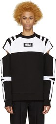 Hood By Air Black And White Logo Fracture T Shirt
