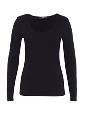 Hallhuber Round Neck Long Sleeve Black