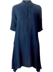 Zucca Loose Fit Shirt Dress Blue