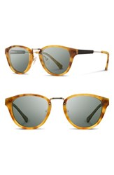 Shwood Women's 'Ainsworth' 49Mm Acetate And Wood Sunglasses Amber Gold G15 Amber Gold G15
