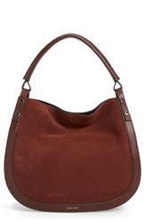 Louise Et Cie 'Elay' Leather Hobo Brown Penny