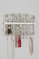 Urban Outfitters Scrollwork Gate Jewelry Stand White
