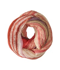 Echo Ombre Stripe Infinity Ring Berry Scarves Burgundy