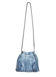Stella Mccartney Falabella Small Fringed Bucket Bag Blue