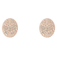 Latelita London Oval Disc Rosegold Pave Earring Rose Gold