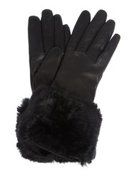 Ted Baker Emree Faux Fur Cuff Glove Black