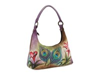 Anuschka 371 Peacock Flower Shoulder Handbags Multi