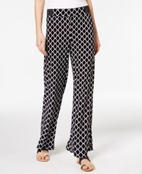 Inc International Concepts Printed Wide Leg Pants Only At Macy's Geo Print