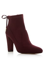 Ivanka Trump Sharon High Heel Booties Burgundy