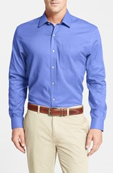 Men's Big And Tall Cutter And Buck 'Epic Easy Care' Classic Fit Wrinkle Free Sport Shirt French Blue