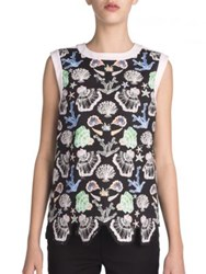 Emilio Pucci Sleeveless Shell Print Top Black