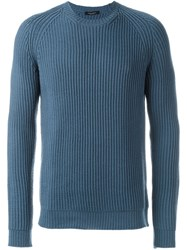 Roberto Collina Ribbed Sweater Blue