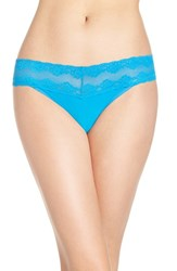 Natori Women's 'Bliss Perfection' Thong Holiday Blue