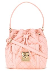 Love Moschino Quilted Bucket Tote Pink Purple