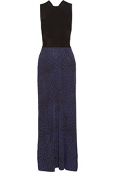 Issa Hurley Cutout Jacquard Knit Gown Black