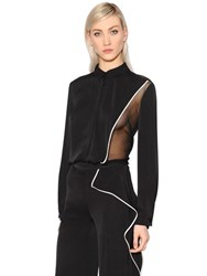 Vionnet Organza And Double Georgette Stretch Shirt