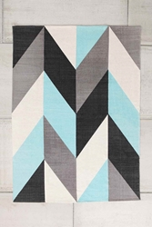 Chevron Flip 5X7 Rug In Turquoise Urban Outfitters