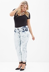 Forever 21 Bleached Skinny Jeans Denim Washed White