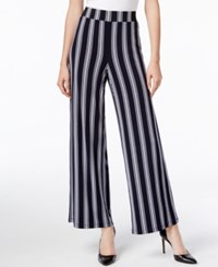 Inc International Concepts Striped Wide Leg Pants Only At Macy's Monaco Stripe