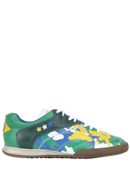 Pantofola D'oro Brazil World Cup Leather Sneakers Green Blue