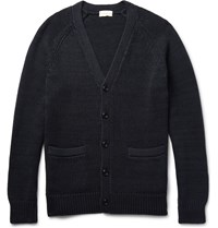 Club Monaco Chunky Knit Cotton Cardigan Black
