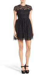 Women's Glamorous Lace Open Back Fit And Flare Dress