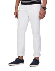 Nautica Tapered Fit Solid Denims White