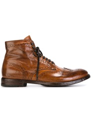 Officine Creative Lace Up Ankle Boots Brown