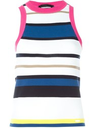 Dsquared2 Striped Sleeveless Sweater Multicolour