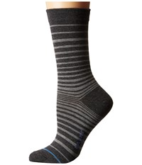 Falke Micro Stripe Ankle Anthracite Mix Women's Crew Cut Socks Shoes Gray