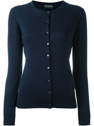 John Smedley Fitted Cardigan Blue