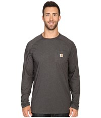 Carhartt Big Tall Force Cotton L S Tee Carbon Heather Men's T Shirt Gray