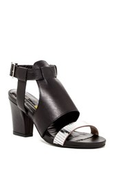 Manas Design Metallic Embellished Sandal Black