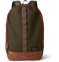 Rag And Bone Derby Cotton Canvas And Suede Backpack Green