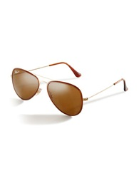 Ray Ban Two Tone Aviator Sunglasses Brown