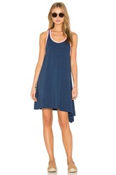 Sundry Asymmetrical Mini Dress Blue