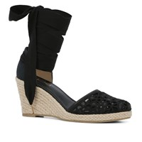 Aldo Cundari Wedge Espadrille Black