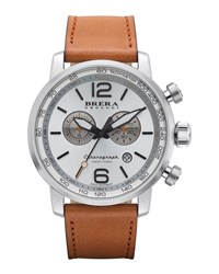 Dinamico Chronograph Watch Stainless Steel Tan Brera