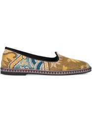 Etro Jacquard Ballerinas Brown