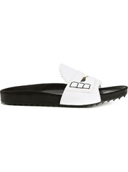 Band Of Outsiders Slip On Sandals White