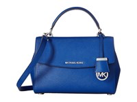 Michael Michael Kors Ava Small Top Handle Satchel Electric Blue Satchel Handbags