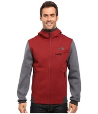 The North Face Thermal 3D Full Zip Hoodie Biking Red Black Heather Men's Sweatshirt