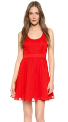 Cupcakes And Cashmere Rudy Open Back Dress True Red