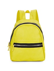 Kensie Faux Leather Backpack Citrus