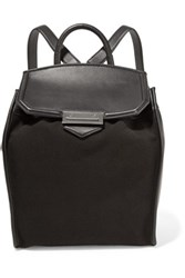 Alexander Wang Prisma Leather And Canvas Backpack Black