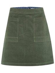 White Stuff Coffee Cord Skirt Spinach Green