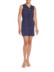Romeo And Juliet Couture Lace Front Sleeveless Dress Navy